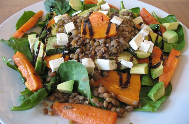 brown-lentil-salad