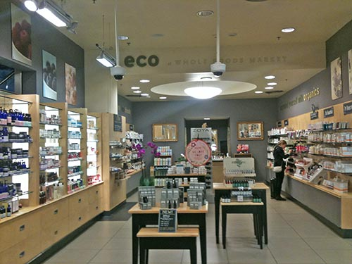 Make up and natural/organic face care section