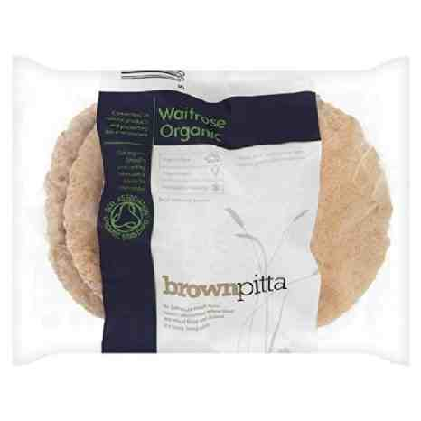 Organic brown pitta bread from Waitrose