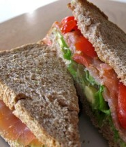 Salmon sandwich - a quick and healthy lunch