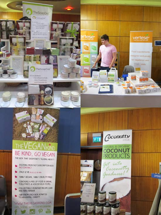 Some of the brands at the vegan fest in Wolverhampton