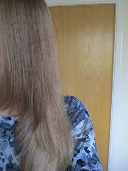 My hair after using DGJ Organics Hairjuice clarifying shampoo and conditioner