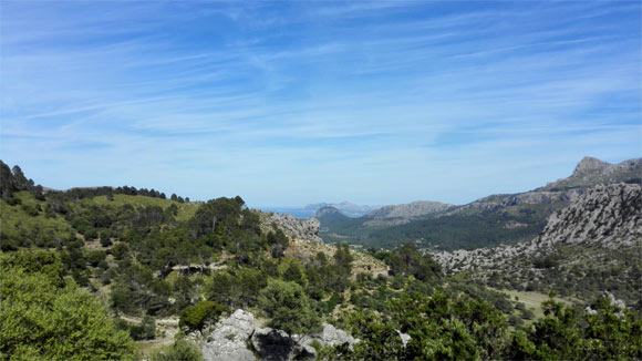 The view from the highest point we climbed to from Pollenca