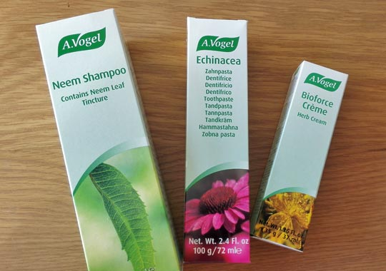 A. Vogel natural beauty products