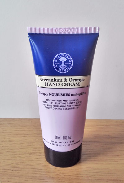 Neal's Yard Remedies geranium and orange hand cream