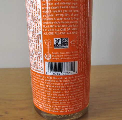 Dr Bronner's soaps are cruelty free