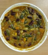 Low carb kidney bean vegetable soup