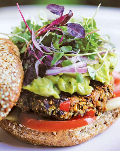 Black bean-hemp protein patties [vegan]