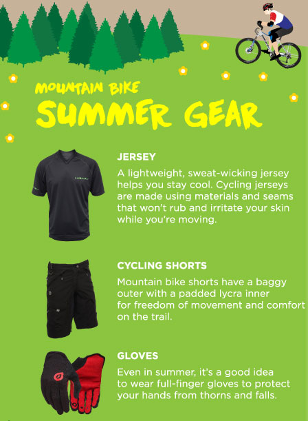 mountain bike summer gear