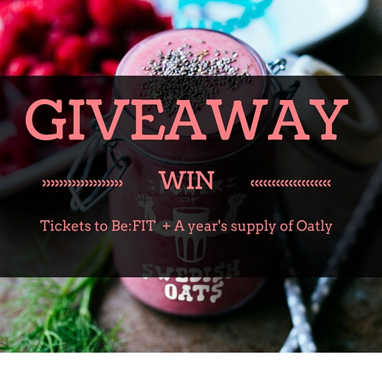 Win tickets to Be:FIT Health & Fitness festival or a year's supply of Oatly, dairy-free oat drink