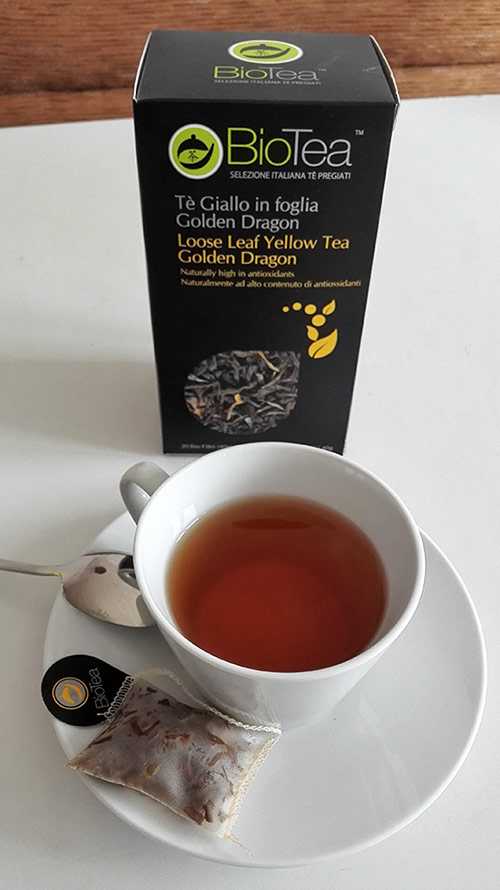 organic yellow tea golden dragon