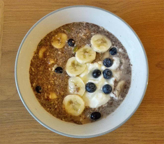 blueberry banana chia pudding