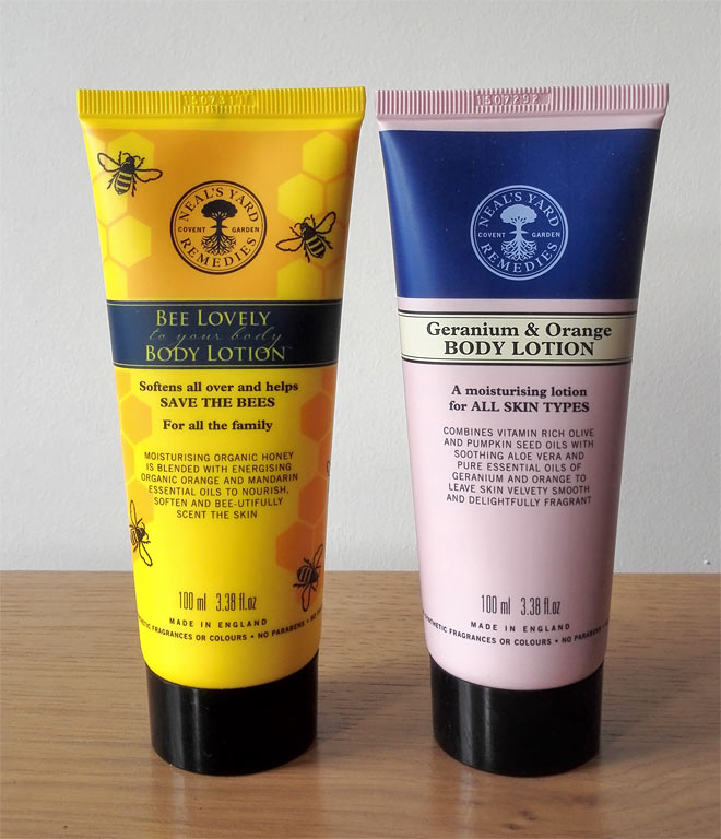 organic body lotions from Neal's Yard Remedies