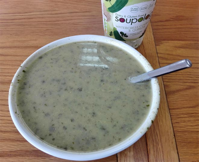 Soupologie: Dairy-free watercress & courgette soup