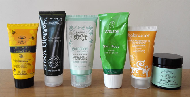 natural and organic hand creams
