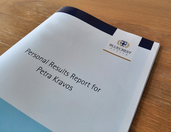 bluecrest personal results report