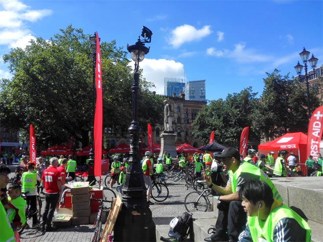 Manchester city ride started on Albert Square