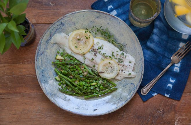 baked sole dinner by Summer Rayne Oakes