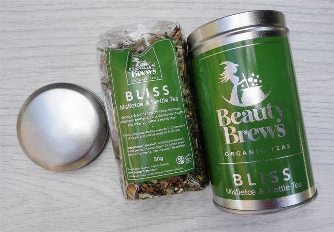 Beauty Brews organic tea blend: Mistletoe & Nettle - Bliss