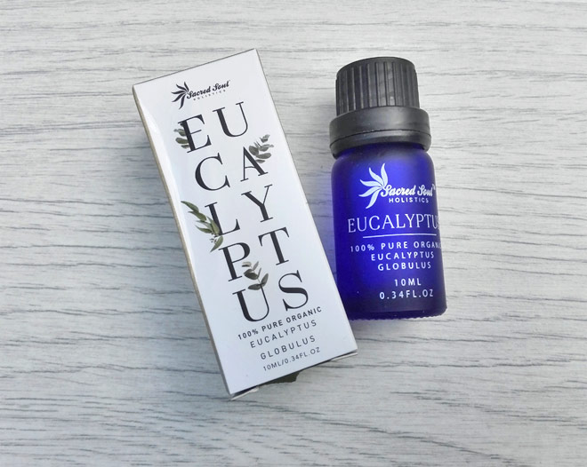 Organic eucalyptus essential oil from Sacred Soul Holistics