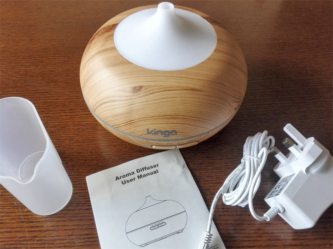 electric aroma diffuser from kinga - cover on top