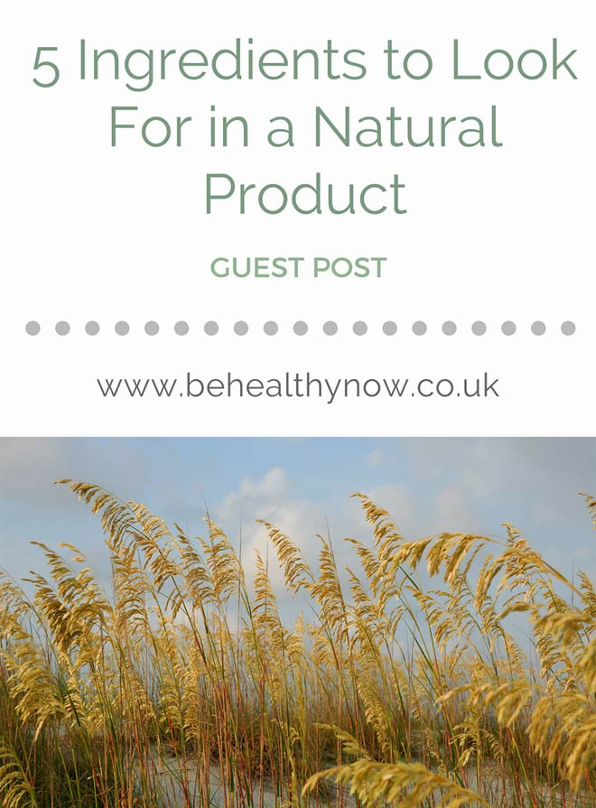 natural ingredients in beauty products