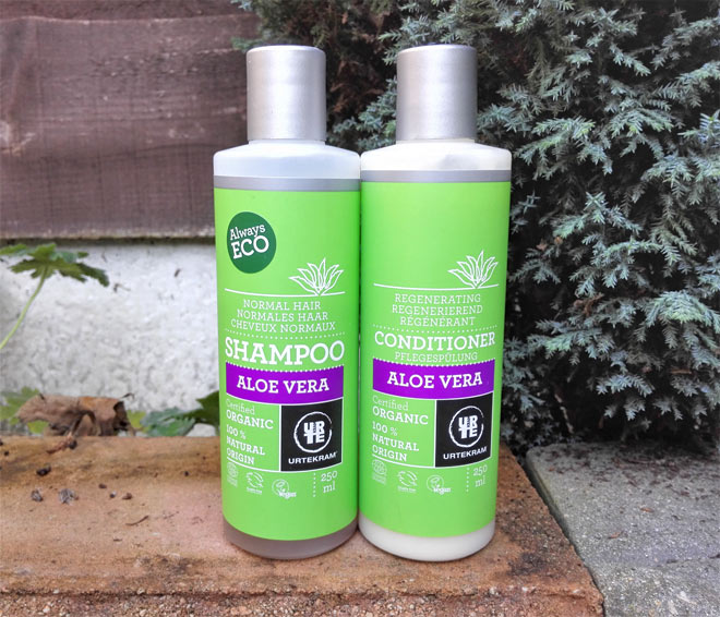urtekram aloe vera shampoo and conditioner