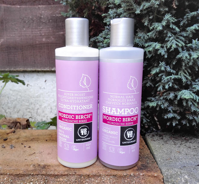 urtekram nordic birch shampoo and conditioner