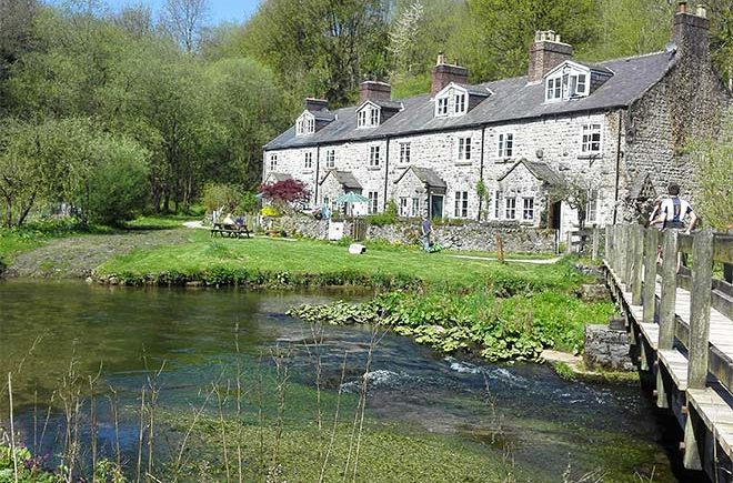 Blackwell Mill cottages on the edge of Peak District