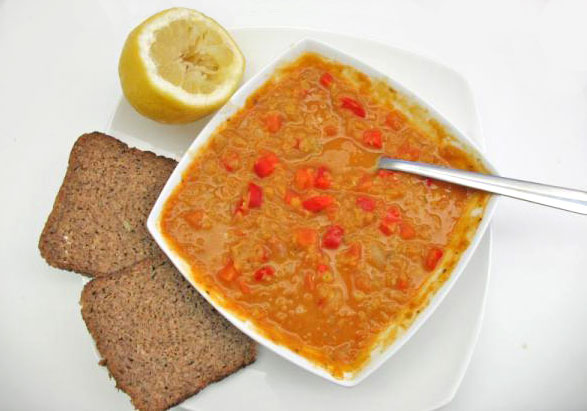 red lentil and carrot soup (vegetarian and vegan)
