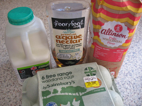 Basic ingredients for healthier pancakes