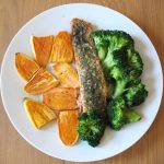 Quick and healthy baked salmon dinner
