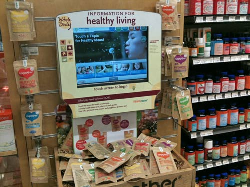 Information screen at the Whole Foods Market with one of my favourite brands for natural supplements - Together