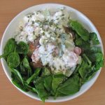 Healthy lunch: Jacket potato with cottage cheese filling