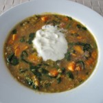 Red lentil and sweet potato soup