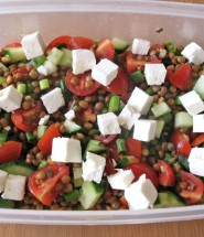 Easy green lentil salad