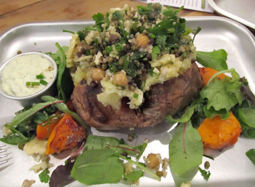 Jacket potato with wholefoods salad