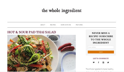 The Whole Ingredient vegan blog
