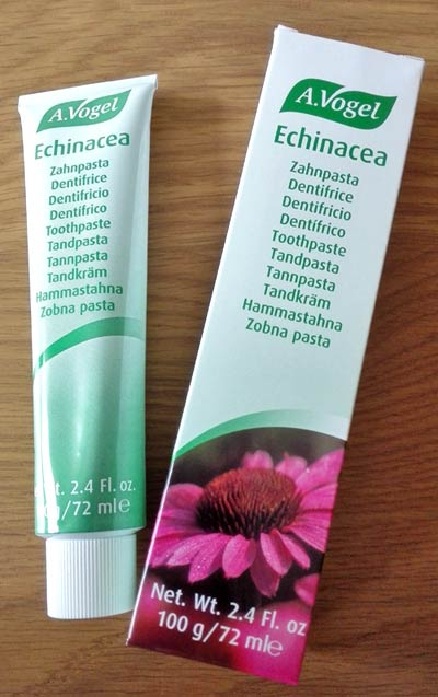 Echinacea toothpaste from A. Vogel