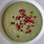 High fibre green smoothie bowl