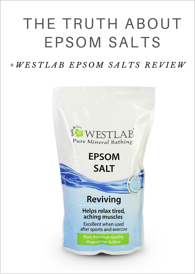 The truth about Epsom salts + Westlab Epsom salts review