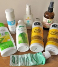 Natural beauty products used up recently