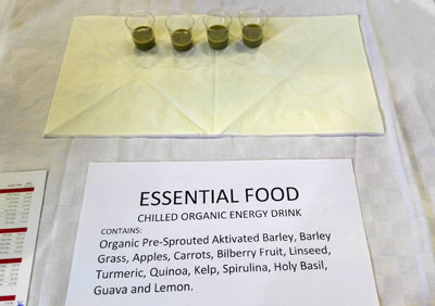 Organic essential food ingredients