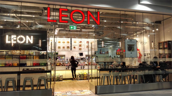 Leon healthy fast food restaurant in Birmingham