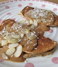 almond and coconut pancakes, gluten-free