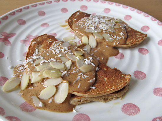 Almond and coconut gluten-free pancakes