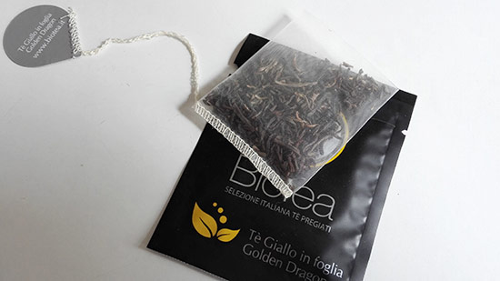yellow tea tea bag