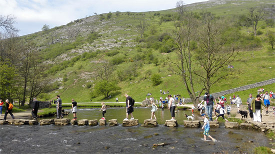 Popular Stepping Stones across the river Dove