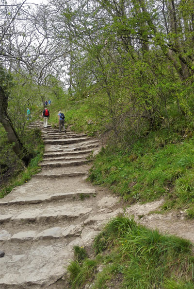 ascent towards the Lover's Leap