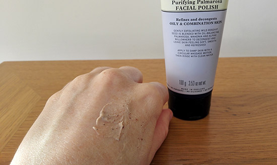 purifying palmarosa face polish